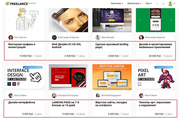 Примеры работ по веб-дизайну со стоимостью работ