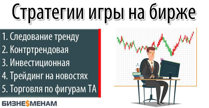 Стратегии игры на бирже - обзор топ-5